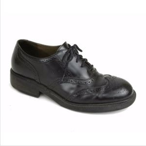 J. Crew Men's Black Wingtip Oxford Shoes 8.5